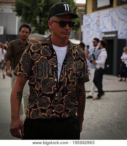 FLORENCE- 14 June 2017 Matteo Marucci on the street during the Pitti