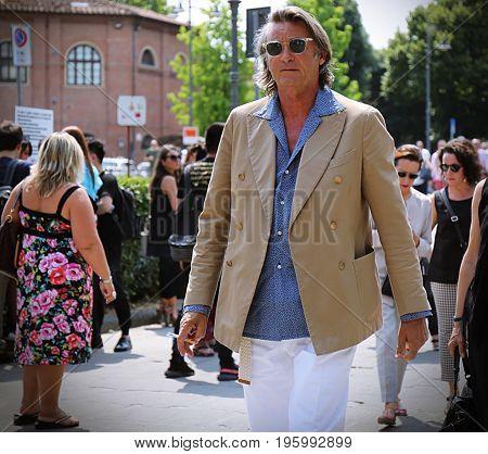 FLORENCE- 14 June 2017 Gigi Boglioli on the street during the Pitti