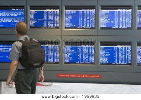 Departure Tote Board