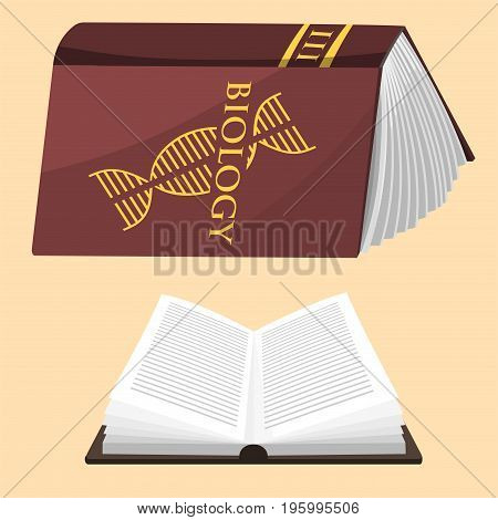 Colorful book vector illustration learn literature study opened education knowledge document textbook. Learning page university text reading encyclopedia.