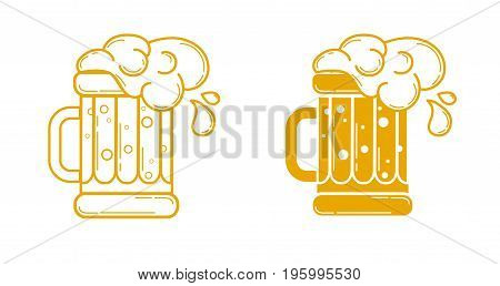 Icon Glass Of Beer Linear Style