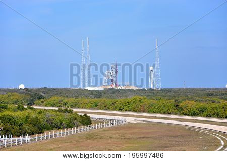 Launch Complex in the John F. Kennedy Space Center in Florida, USA.