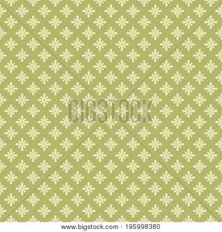 Seamless background with flowers. Vector retro pattern