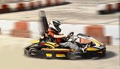 Go kart, karting speed rival outdoor race opposition race, racing with fury,  a fury,fast and furious    image taken in a sunny warm day on a racing track poster