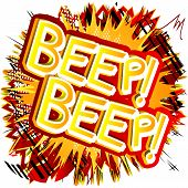 Beep! Beep! - Vector illustrated comic book style expression. poster