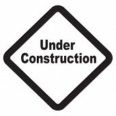 Under construction attention beware bling build building poster