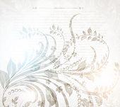 Summer retro floral bright background for vintage design. Vector eps 10. poster