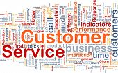 Background concept wordcloud illustration of customer service poster