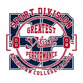 graphic design sport division detroit for shirt and print poster