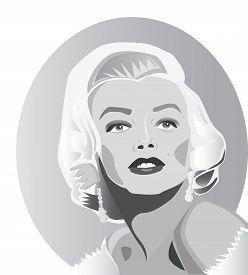 July, 2017: Famous movie star Marilyn Monroe in famous posing.