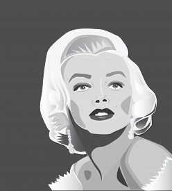July, 2017: Famous movie star Marilyn Monroe in famous posing