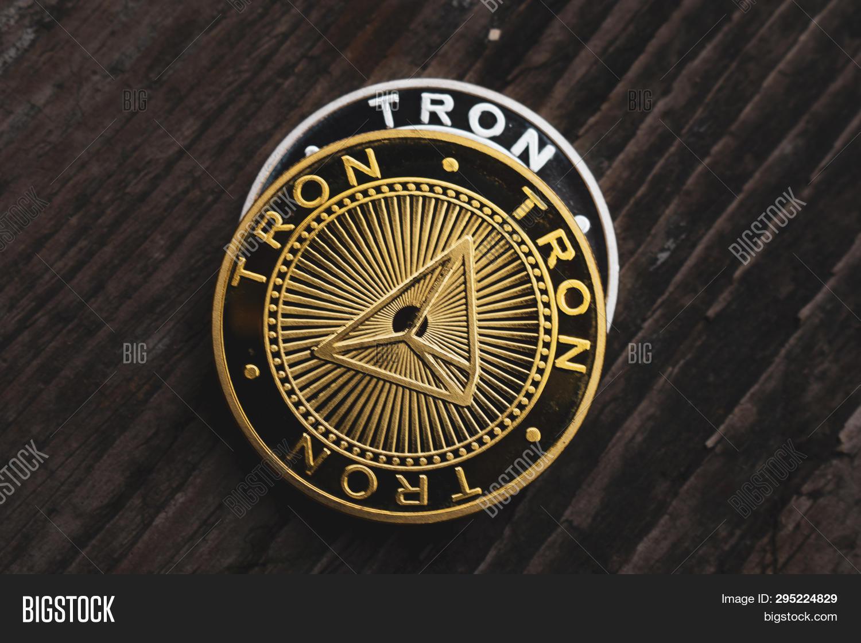 Golden Coin Tron Trx, Image & Photo (Free Trial)   Bigstock