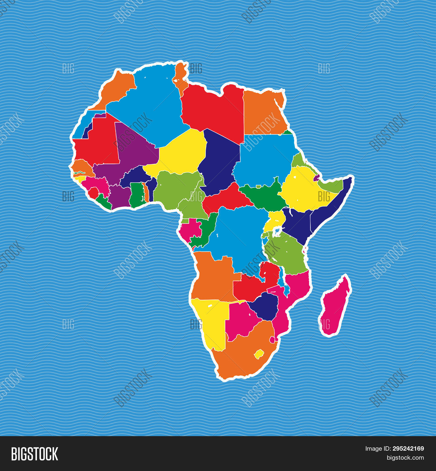 Map Of Africa Political.Africa Political Map Vector Photo Free Trial Bigstock