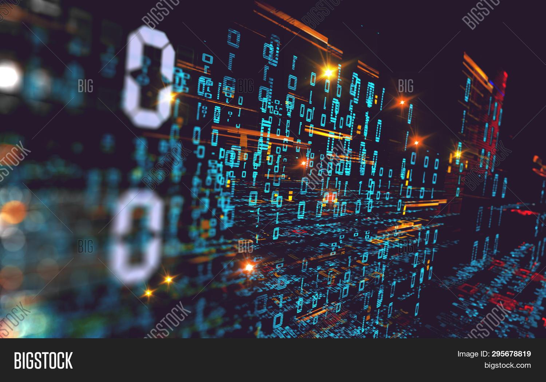 Wallpaper Binary Code Image Photo Free Trial Bigstock