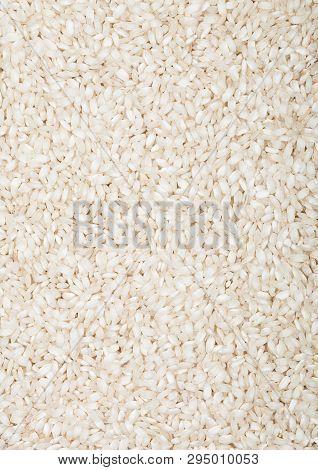 Fresh Raw Organic Arborio Risotto Rice Healthy Food.