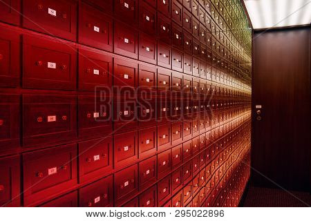Mirror Room Illusions. The Room Of Illusions. The Safe Room Is A Multi-colored Room Of Illusions. A