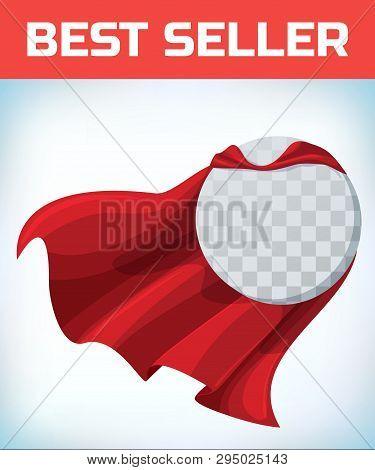 Red Cape. Super Hero Cloak. Superhero Cover. Cartoon Carnival Clothes. Female Superhero. Woman Heroi