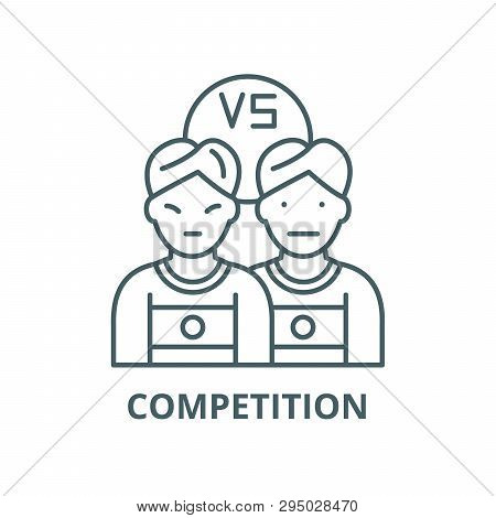 Competition Line Icon, Vector. Competition Outline Sign, Concept Symbol, Flat Illustration