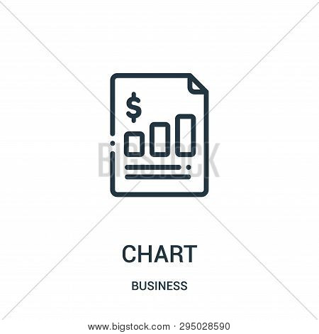 Chart Icon Isolated On White Background From Business Collection. Chart Icon Trendy And Modern Chart