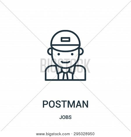 Postman Icon Isolated On White Background From Jobs Collection. Postman Icon Trendy And Modern Postm
