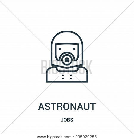 Astronaut Icon Isolated On White Background From Jobs Collection. Astronaut Icon Trendy And Modern A