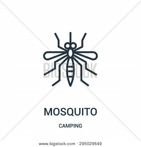 Mosquito Icon Isolated On White Background From Camping Collection. Mosquito Icon Trendy And Modern