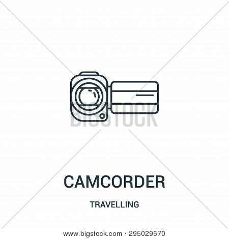Camcorder Icon Isolated On White Background From Travelling Collection. Camcorder Icon Trendy And Mo