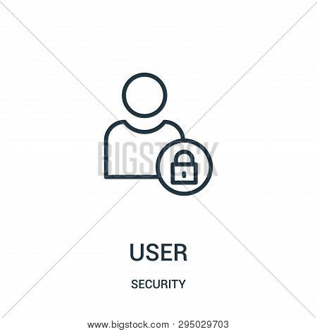 User Icon Isolated On White Background From Security Collection. User Icon Trendy And Modern User Sy