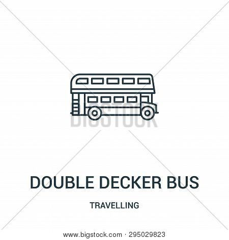 Double Decker Bus Icon Isolated On White Background From Travelling Collection. Double Decker Bus Ic