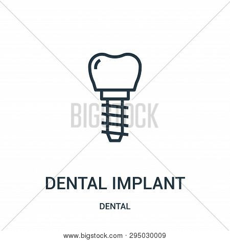 Dental Implant Icon Isolated On White Background From Dental Collection. Dental Implant Icon Trendy