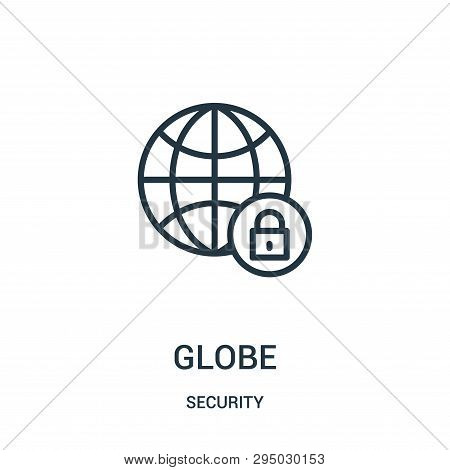 Globe Icon Isolated On White Background From Security Collection. Globe Icon Trendy And Modern Globe
