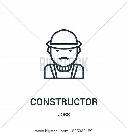 Constructor Icon Isolated On White Background From Jobs Collection. Constructor Icon Trendy And Mode
