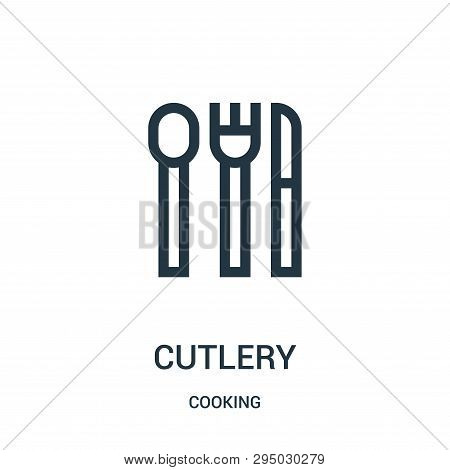 Cutlery Icon Isolated On White Background From Cooking Collection. Cutlery Icon Trendy And Modern Cu