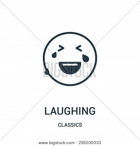 Laughing Icon Isolated On White Background From Classics Collection. Laughing Icon Trendy And Modern