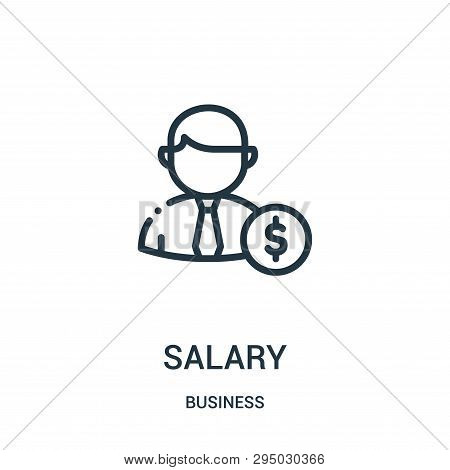Salary Icon Isolated On White Background From Business Collection. Salary Icon Trendy And Modern Sal