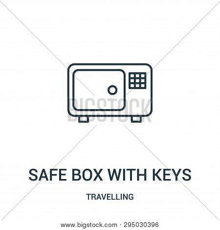 Safe Box With Keys Icon Isolated On White Background From Travelling Collection. Safe Box With Keys