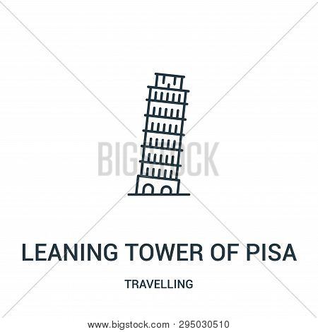 Leaning Tower Of Pisa Icon Isolated On White Background From Travelling Collection. Leaning Tower Of