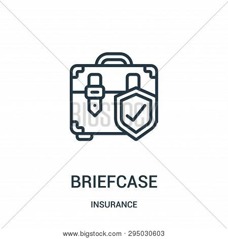 Briefcase Icon Isolated On White Background From Insurance Collection. Briefcase Icon Trendy And Mod