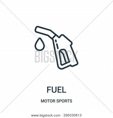 Fuel Icon Isolated On White Background From Motor Sports Collection. Fuel Icon Trendy And Modern Fue