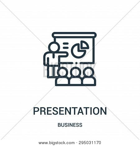Presentation Icon Isolated On White Background From Business Collection. Presentation Icon Trendy An