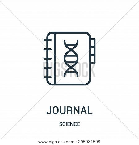 Journal Icon Isolated On White Background From Science Collection. Journal Icon Trendy And Modern Jo