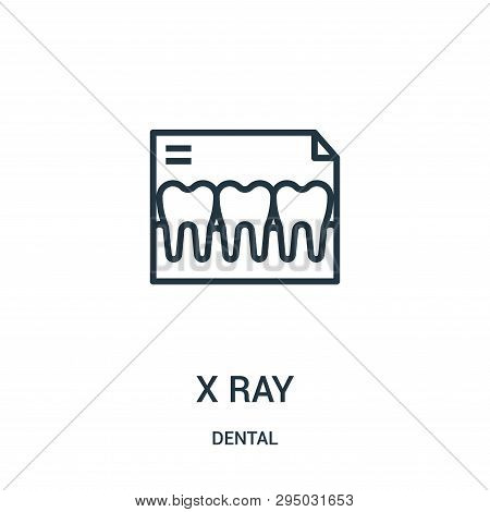 X Ray Icon Isolated On White Background From Dental Collection. X Ray Icon Trendy And Modern X Ray S