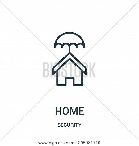 Home Icon Isolated On White Background From Security Collection. Home Icon Trendy And Modern Home Sy