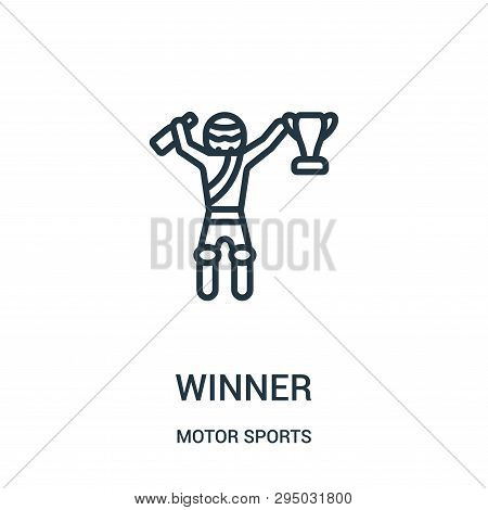 Winner Icon Isolated On White Background From Motor Sports Collection. Winner Icon Trendy And Modern