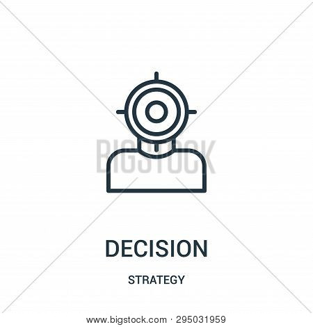 Decision Icon Isolated On White Background From Strategy Collection. Decision Icon Trendy And Modern