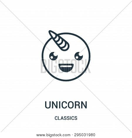 Unicorn Icon Isolated On White Background From Classics Collection. Unicorn Icon Trendy And Modern U