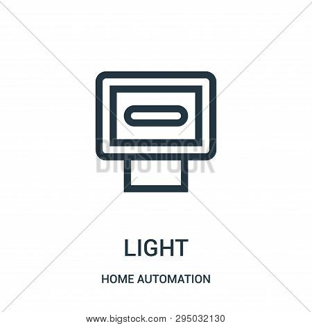 Light Icon Isolated On White Background From Home Automation Collection. Light Icon Trendy And Moder