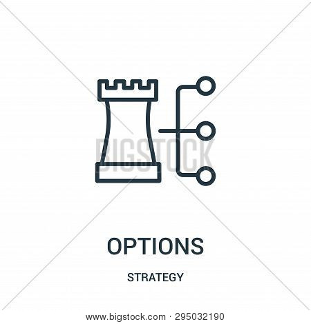 Options Icon Isolated On White Background From Strategy Collection. Options Icon Trendy And Modern O