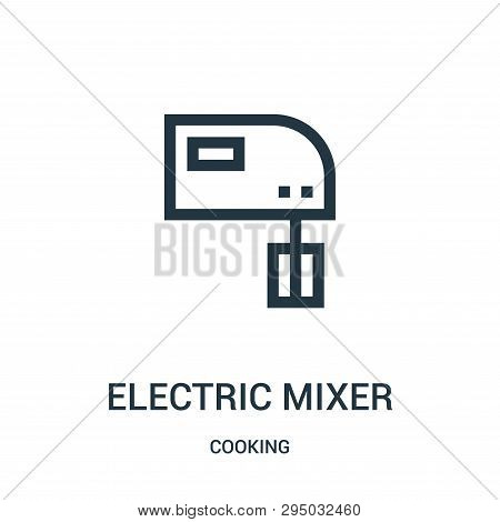 Electric Mixer Icon Isolated On White Background From Cooking Collection. Electric Mixer Icon Trendy