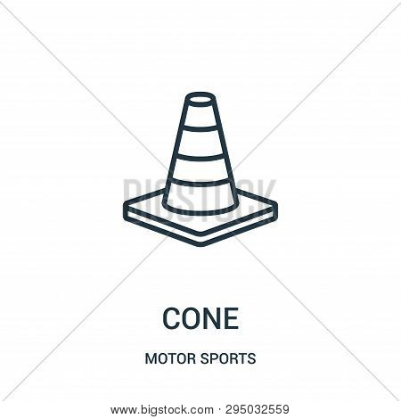 Cone Icon Isolated On White Background From Motor Sports Collection. Cone Icon Trendy And Modern Con